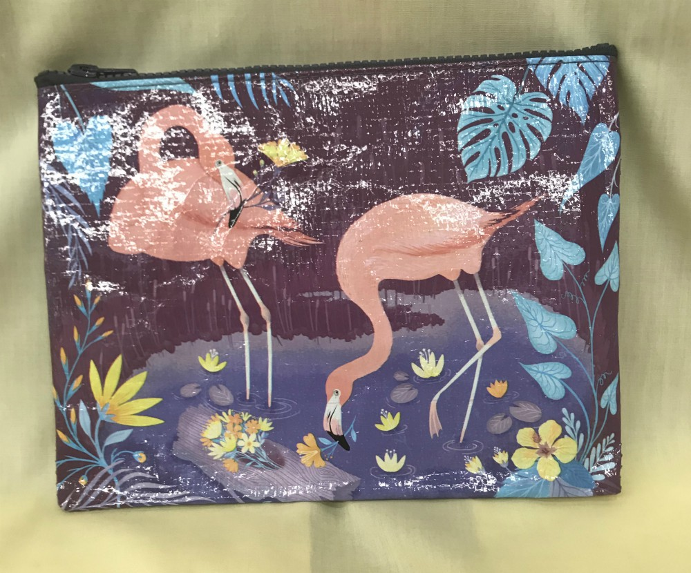 Flamingo Zippered Pouch