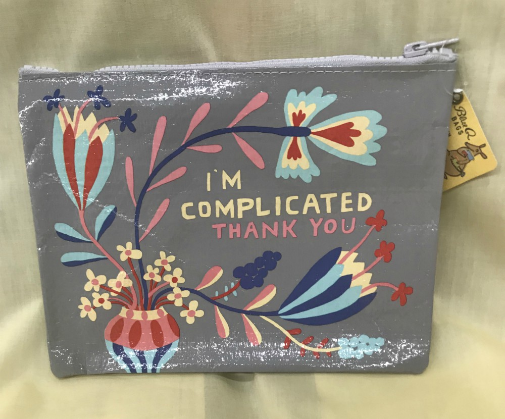 I'm Complicated Zippered Pouch