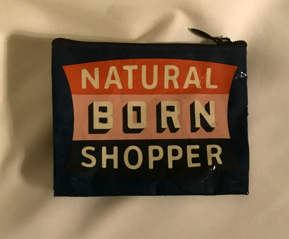 Natural Born Shopper Coin Purse