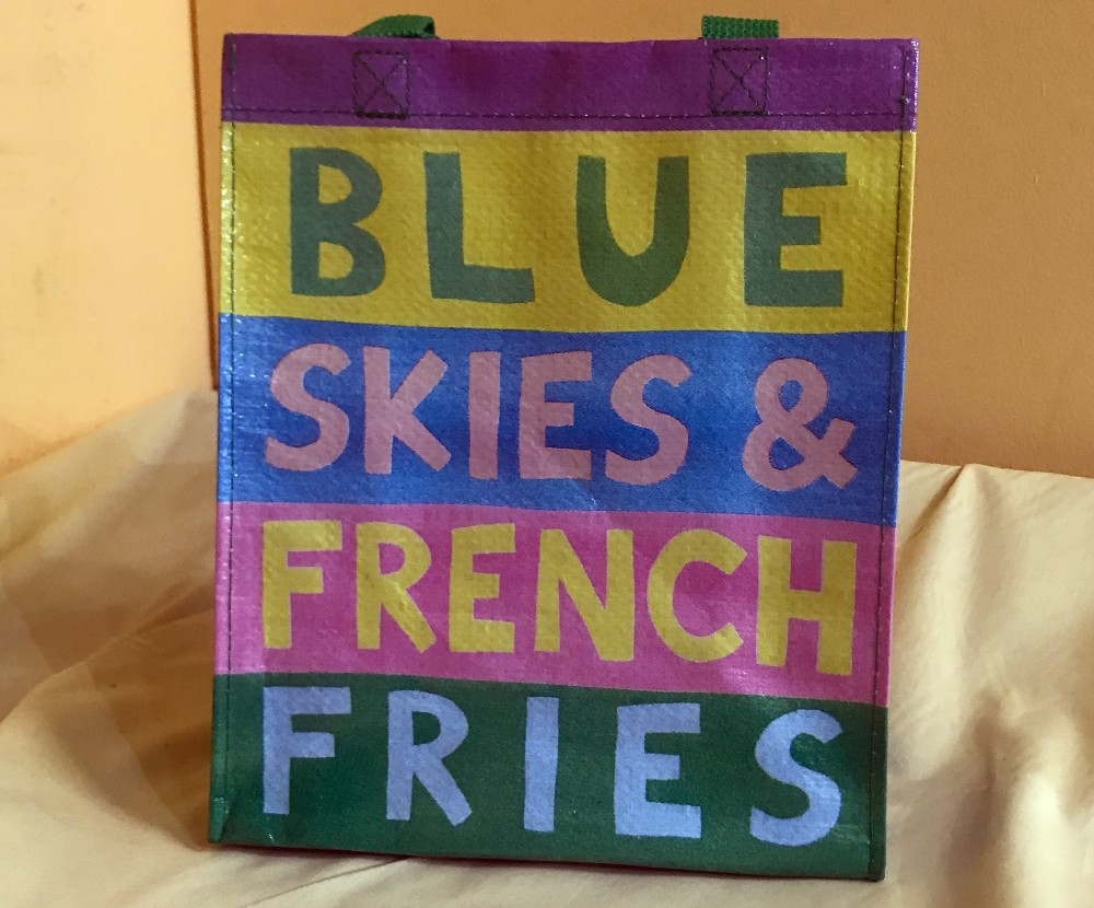 BQ Blue Skies and French Fries Handy Tote