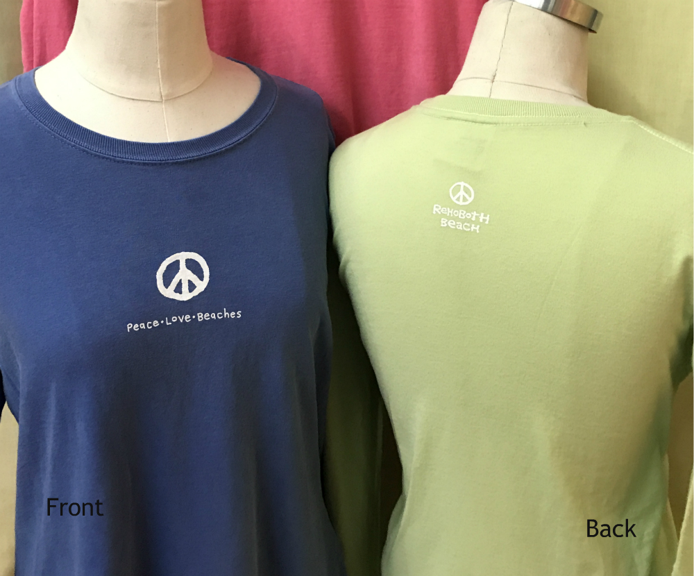 Peace Love Beaches Womens LS